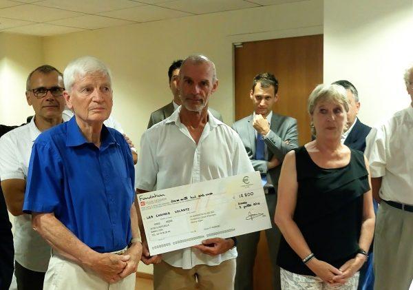 Remise du Chèque CE à Jean-Paul Bonfanti