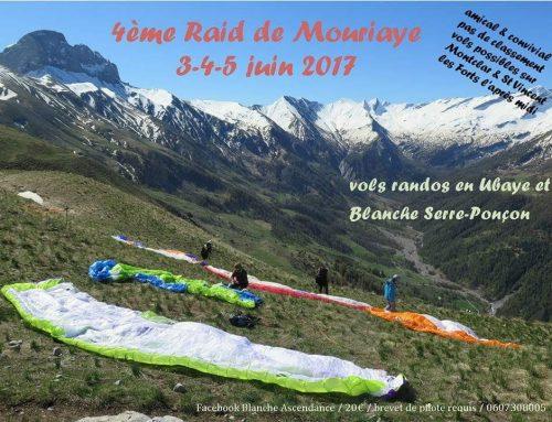 Raid Mouriaye, du 3 au 5 juin 2017