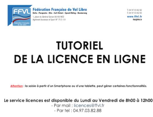 Tutoriel prise de licence FFVL 2019