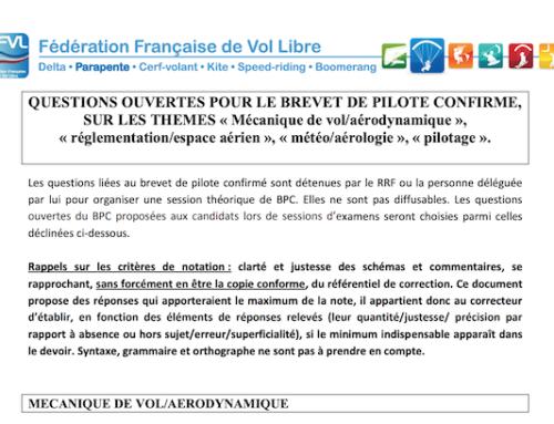 Préparation Brevet De Pilote Et Brevet De Pilote Confirmé 2019