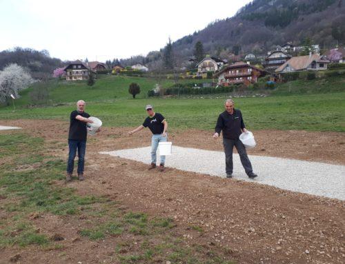 3 zones sèches de pliage pour l'atterrissage de Planfait à Perroix