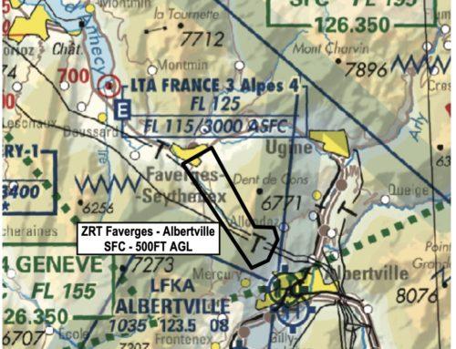 26/11/2019-26/05/2020 (ZRT) dans le secteur Faverges-Albertville – zone réglementée temporaire