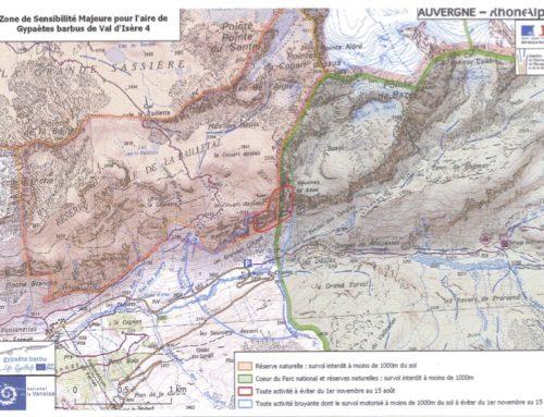 Parc de la Vanoise | Zones de sensibilité majeure – Gypaetes barbus