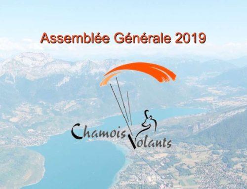 AG Assemblée Générale Chamois Volants 2019 – 10 janvier 2020