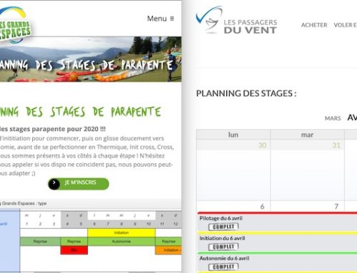 Stages Chamois volants 2020