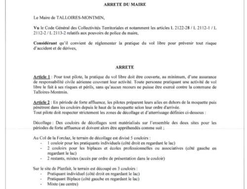 Arrêté du Maire de Talloires n°97-2020