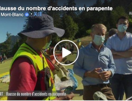 Hausse du nombre d'accidents en parapente l 8 Mont Blanc