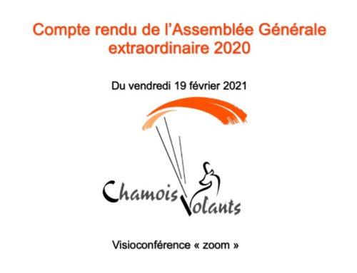 Assemblée Générale 2020 Chamois Volants – 19 février 2021