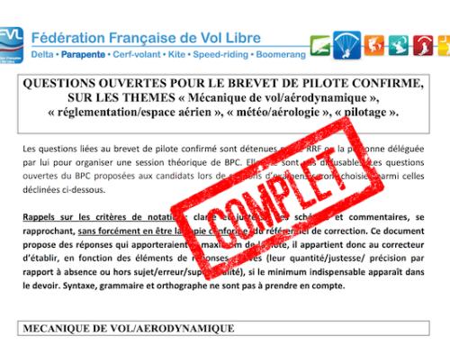Préparation Brevet De Pilote Et Brevet De Pilote Confirmé 2021